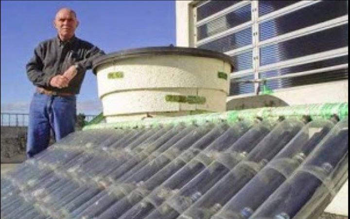 Solare termico fai da te con le bottiglie di plastica il for Schema impianto solare termico fai da te