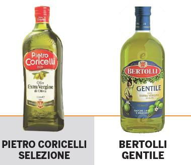 Alcuni dei marchi accusati di contenere olio di oliva vergine al posto dell'extra vergine