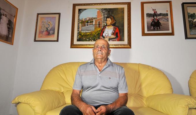 (Giovanni Cualbu, 77 anni, di origine barbaricina porta avanti l'azienda creata dal nonno e dal padre. Con lui lavorano i figli)