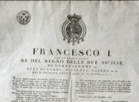 Reddito di cittadinanza nel Reame Due Sicilie 1831