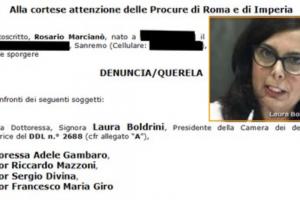 Laura Boldrini & CO denunciati per attentato all'articolo 21 della Costituzione