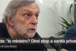 """Gino Strada: """"No alla sanità privata, è uno schifo trarre profitto dal dolore"""". VIDEO"""