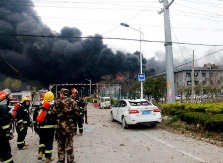 Cina: esplode impianto chimico. Morti, numerosi feriti e danno ambientalein corso